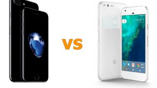 話題のGoogle Pixel 対 iPhone 7 仕様比較!