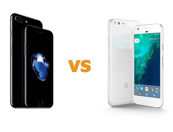 Google Pixel 対 iPhone 7 仕様比較