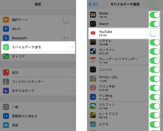 モバイルデータの通信利用をアプリごとに制限する方法