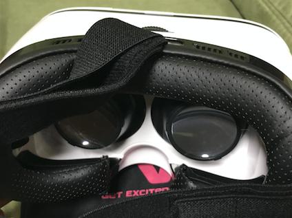 VOX+ 3DVR ゴーグルのフィット感