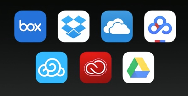 iPad iOS11 新機能 Files サードパーティクラウドストレージ