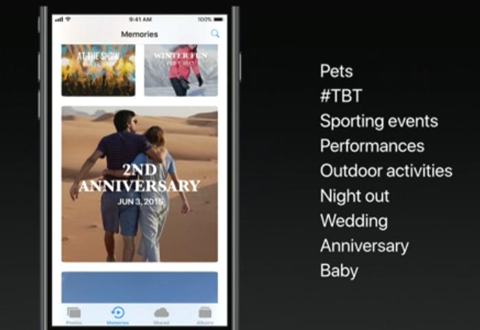 iOS11 写真メモリー機能