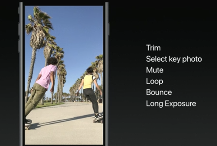 iOS11 ライブフォト新機能
