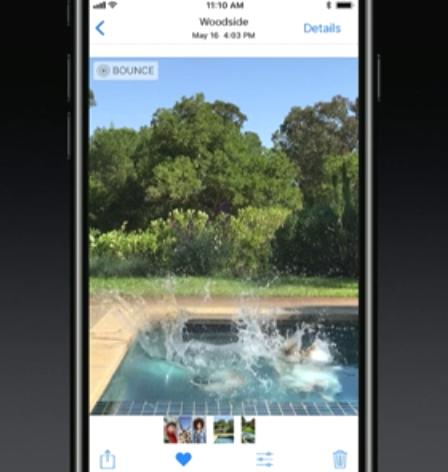iOS11 Live Photos 逆再生機能