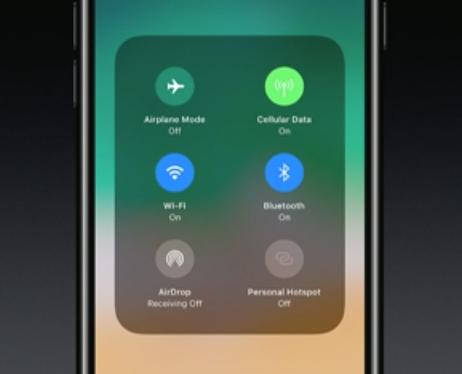 iOS11 コントロールセンター各種メニュー