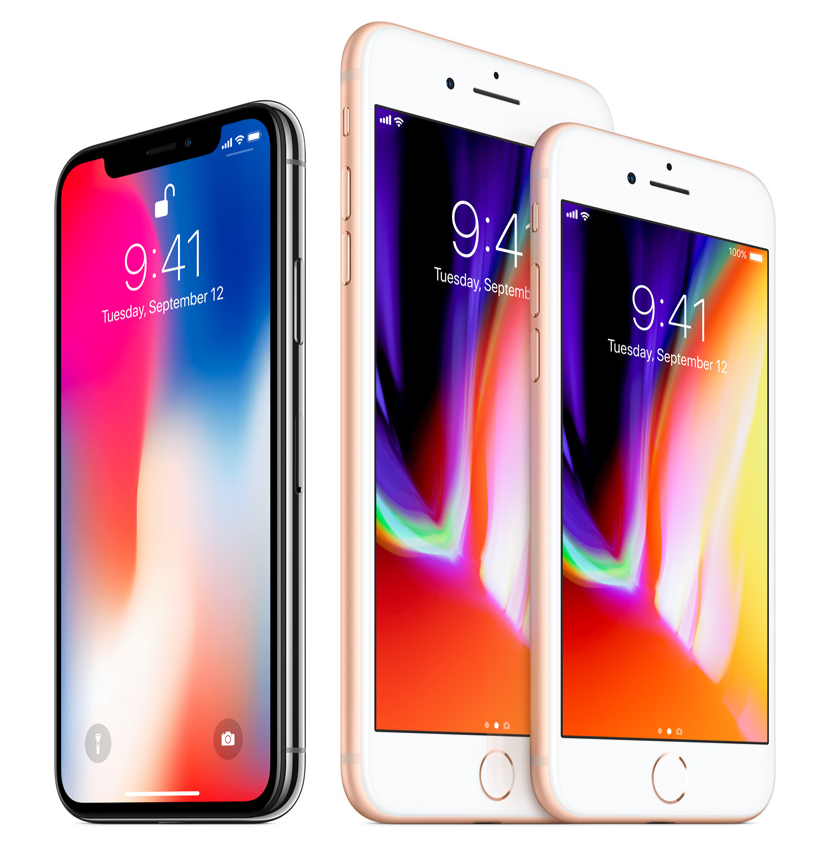 iPhone X、iPhone 8、iPhone 8 Plus を公式に発表