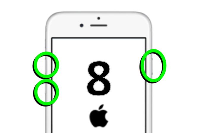 手順が変更された iPhone 8 / 8 Plus 再起動の方法