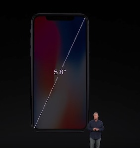 画面サイズは5.8インチ