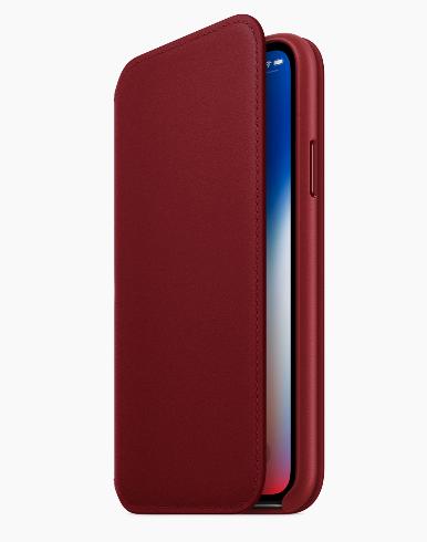 iPhoneX RED レザーケース