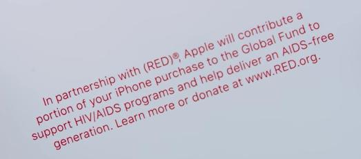 iPhone (RED) メモ