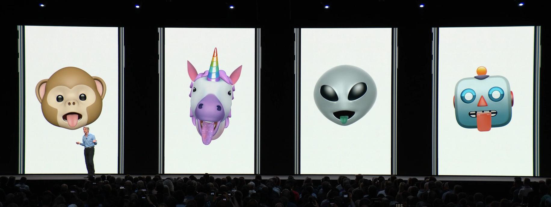 iOS12アニ文字は舌を検知