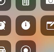 コントロールセンターの時計アプリ