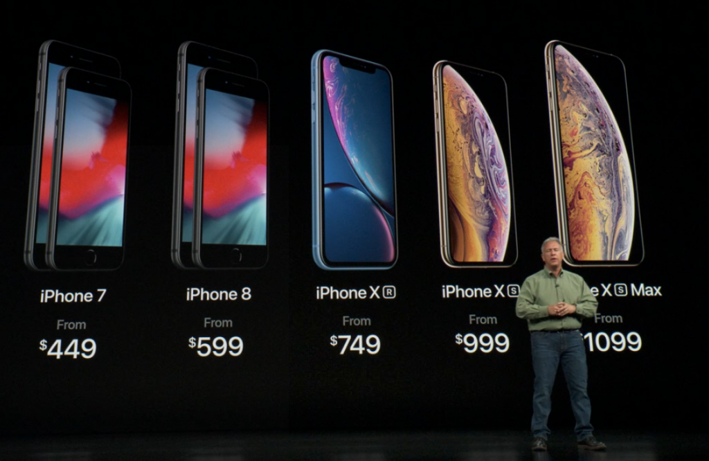 iPhone XS、iPhone XS Max、iPhone XR の価格と発売日