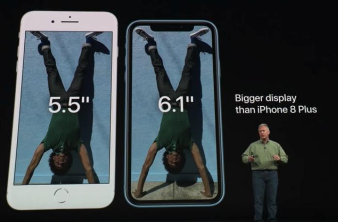 iPhone XR の画面サイズ