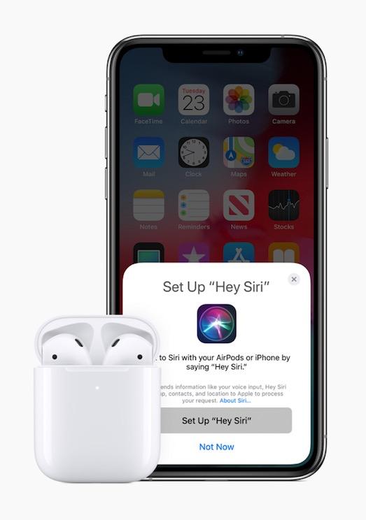 新型AirPodsはHey Siriに対応