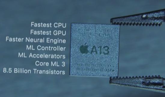 アイフォン11搭載のA13チップ