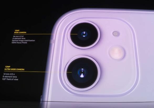 iPhone11 デュアルカメラ