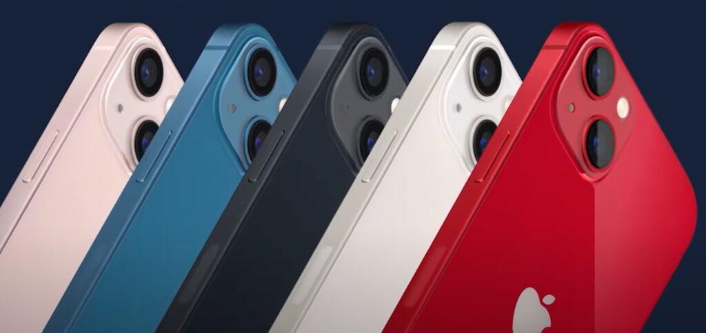 iPhone 13 と 13 mini のカラーバリエーション